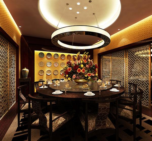 正合地产中式餐厅装修效果