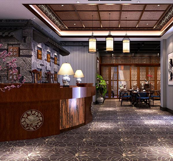 中式餐厅大厅装修效果
