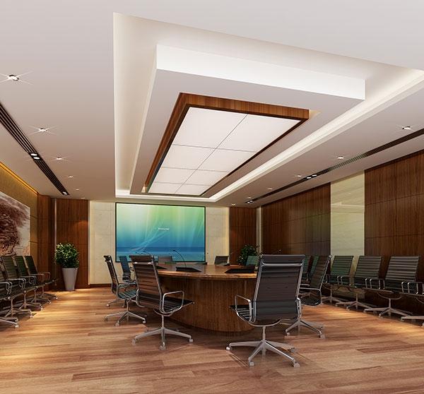小型会议室工装效果图